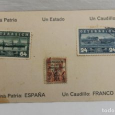 Postales: TARJETA POSTAL MILITAR, BRIGADAS DE NAVARRA BÓN. MONTAÑA ARAPILES Nº 7, CON SELLOS. Lote 197675916