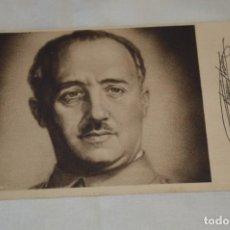 Postales: FRANCISCO FRANCO / OBSEQUIO DE LARIOS S.A. - MÁLAGA / ANTIGUA Y RARA POSTAL, ORIGINAL -- ¡MIRA!. Lote 198606696