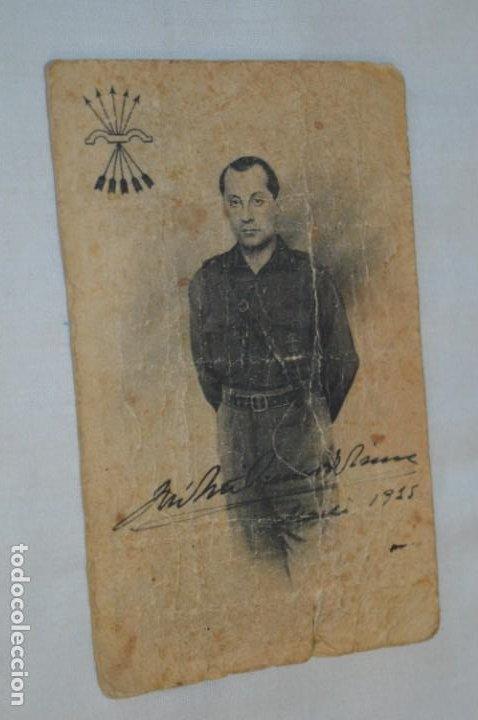 JOSÉ ANTONIO PRIMO DE RIVERA / ANTIGUA Y RARA POSTAL, ORIGINAL -- ¡MIRA! (Postales - Postales Temáticas - Guerra Civil Española)