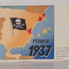 Postales: FEBRER 1937/ TARJETA POSTA GUERRA CIVIL ESPAÑOLA/ ORIGINAL DE ÉPOCA/ RARA!. Lote 199475782