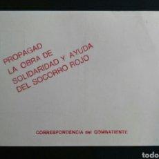 Postales: SOCORRO ROJO DE ESPAÑA. (S.R.I.) CORRESPONDENCIA DEL COMBATIENTE. SIN CIRCULAR. ENVIO INCLUIDO.... Lote 263303120