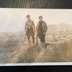 Postales: POSTAL FOTOGRAFICA GUERRA CIVIL GRUPO DE MILICIANOS FRENTE DE ARAGON ( ALCAÑIZ ) TERUEL DIC. 1936. Lote 202658275
