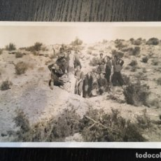 Postales: POSTAL FOTOGRAFICA GUERRA CIVIL MILICIANOS FRENTE DE ARAGON (MONTE OSCURO) JUNY 1937. Lote 202659261