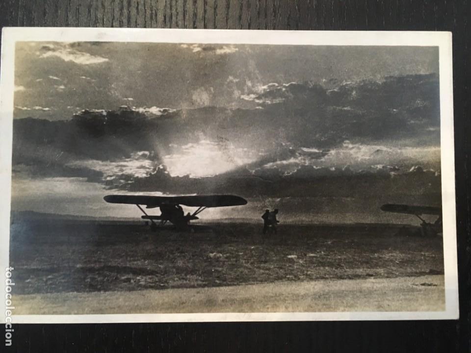 FRONT D'ARAGO B-5,CAMP D'AVIACIO A SARIÑENA, COMISSARIAT DE PROPAGANDA DE LA GENERALITAT DE CATALUÑA (Postales - Postales Temáticas - Guerra Civil Española)