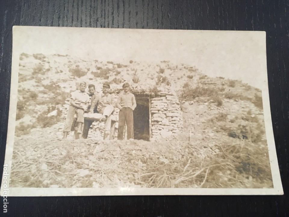 POSTAL FOTOGRAFICA GUERRA CIVIL FRENTE DE ARAGON (MONTALBAN ) TERUEL 14X9 CM. (Postales - Postales Temáticas - Guerra Civil Española)
