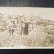 Postales: POSTAL FOTOGRAFICA GUERRA CIVIL FRENTE DE ARAGON (MONTALBAN ) TERUEL 14X9 CM.. Lote 202747936