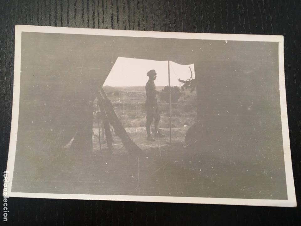 POSTAL FOTOGRAFICA GUERRA CIVIL MILICIANO FRENTE DE ARAGON ( MONTALBAN ) TERUEL DICIEMBRE 1936 (Postales - Postales Temáticas - Guerra Civil Española)