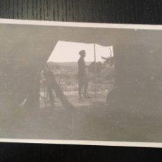 Postales: POSTAL FOTOGRAFICA GUERRA CIVIL MILICIANO FRENTE DE ARAGON ( MONTALBAN ) TERUEL DICIEMBRE 1936. Lote 202748091