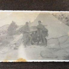 Postales: POSTAL FOTOGRAFICA GUERRA CIVIL MILICIANOS FRENTE DE ARAGON ( MONTE OSCURO ) JUNY 1937. Lote 202852913