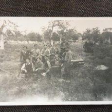 Postales: POSTAL FOTOGRAFICA GUERRA CIVIL MILICIANOS CON UN CAÑON FRENTE DE ARAGON (ZUERA 1936) NOVIEMBRE. Lote 202853696