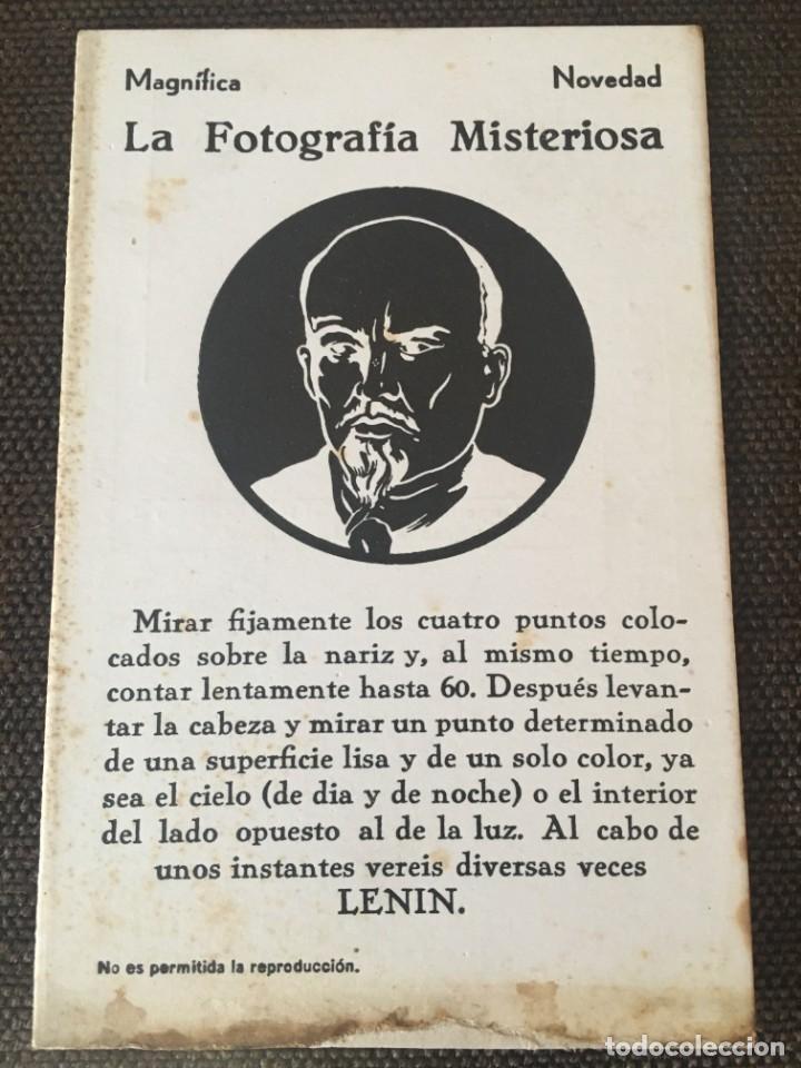 LENIN,LA FOTOGRAFIA MISTERIOSA,DEL IMPORTE DE LA VENTA EL 10%DESTINADO AL SOCORRO ROJO INTERNACIONAL (Postales - Postales Temáticas - Guerra Civil Española)