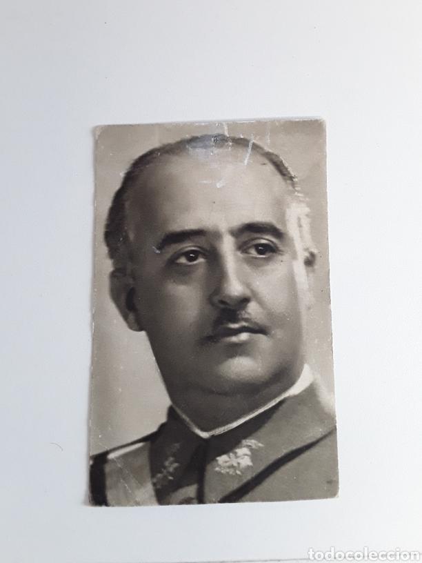 POSTAL CON FOTOGRAFÍA DE FRANCO (Postales - Postales Temáticas - Guerra Civil Española)