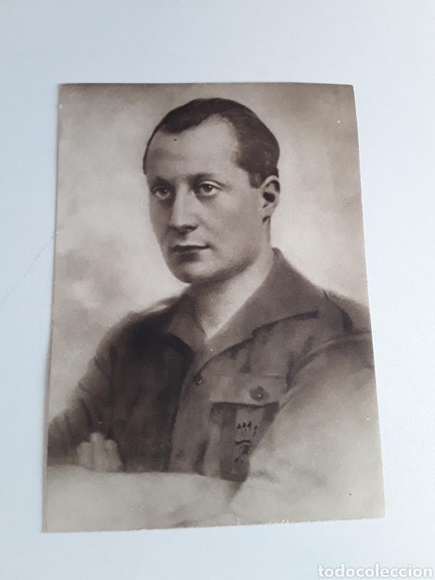 POSTAL CON FOTOGRAFÍA DE JOSÉ ANTONIO PRIMERO DE RIVERA (Postales - Postales Temáticas - Guerra Civil Española)
