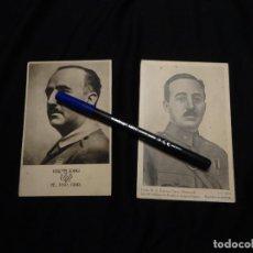 Postales: 2 ANTIGUAS POSTAL FOTO DE FRANCO, PRINCIPIOS AÑOS 1940. Lote 205670381