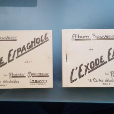Postales: 36 CARTAS POSTALES SERIE 1 Y SERIE 2 DE L' EXODE ESPAGNOLE. GUERRA CIVIL. Lote 206236141