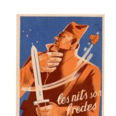 Postales: REPÚBLICA.- P.S.U. - U.G.T. LES NITS SON FREDES TREBALLEU PER AL FRONT.. Lote 206914192