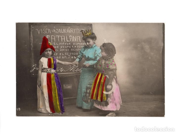 REPÚBLICA. VISCA LA SOLIDARITAT CATALANA. (Postales - Postales Temáticas - Guerra Civil Española)