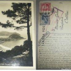 Postales: ESPAÑA TARJETA POSTAL SAN SEBASTIÁN (GUIPÚZCOA) CENSURA MILITAR 1937 DESTINO COTTBUS (ALEMANIA). Lote 207868308