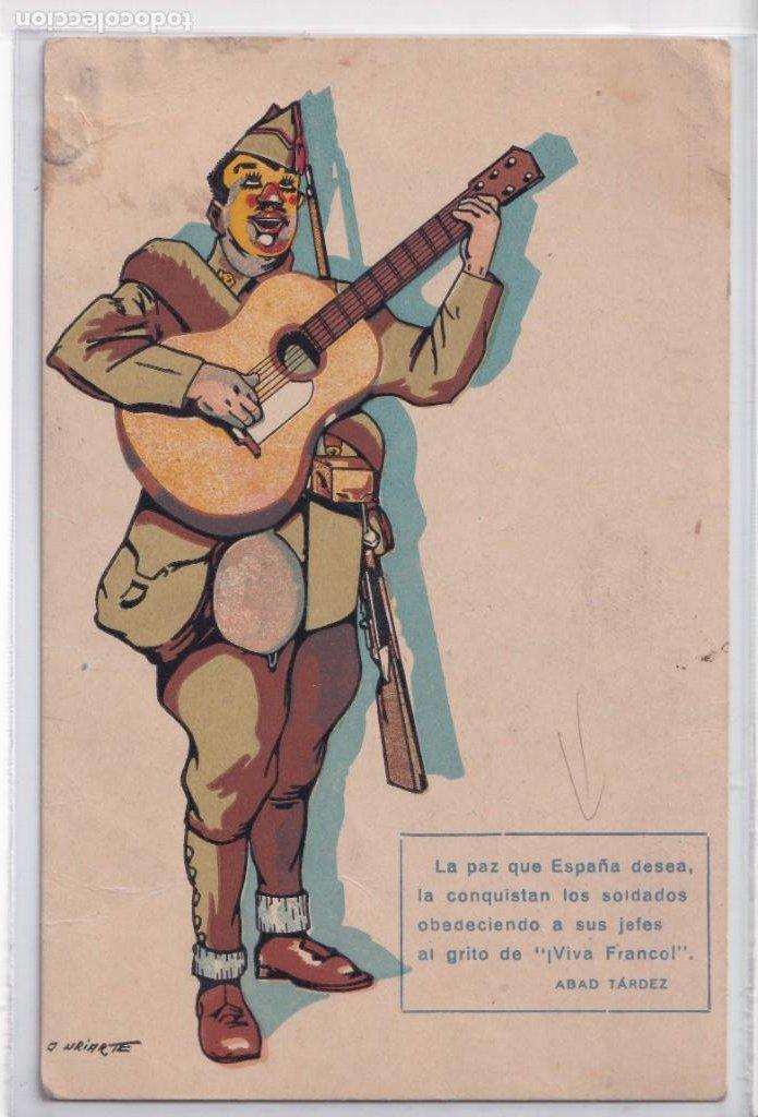 LA PAZ QUE ESPAÑA DESEA... TARJETA POSTAL (Postales - Postales Temáticas - Guerra Civil Española)
