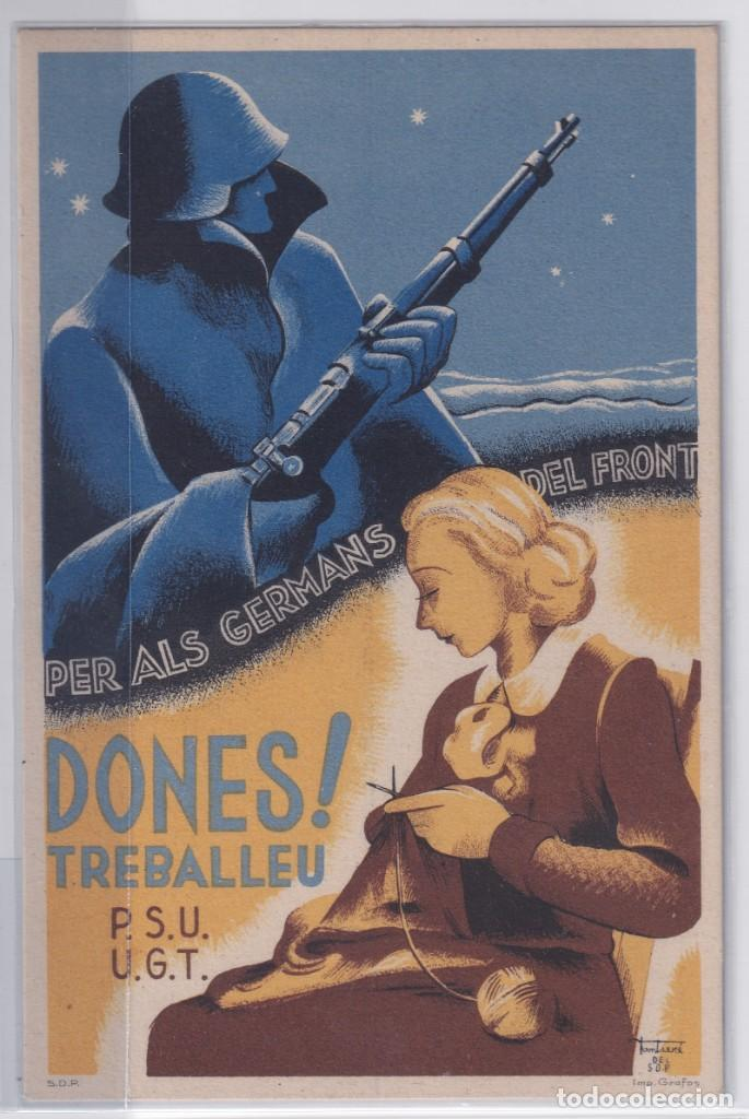 PSU – UGT DONES TREBALLEU... (Postales - Postales Temáticas - Guerra Civil Española)