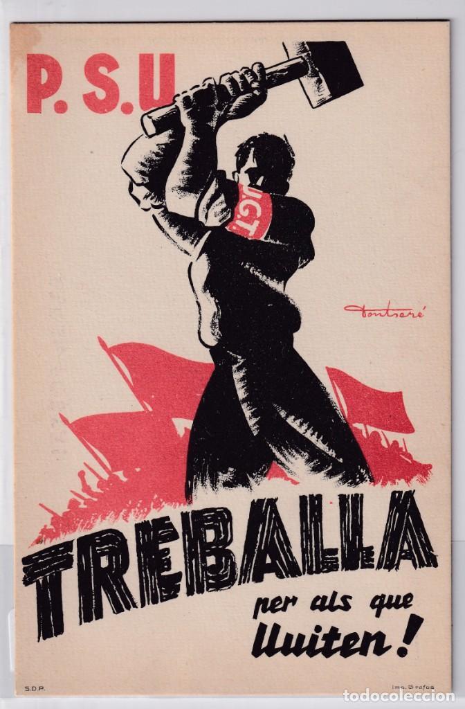 PSU – UGT TREBALLA... (Postales - Postales Temáticas - Guerra Civil Española)