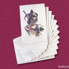Postales: 12 POSTALES DE 1936 ESTAMPAS DE LA REVOLUCION ESPAÑOLA - BANDO REPUBLICANO DE LA GUERRA CIVIL. Lote 209353573