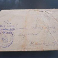 Postales: SOBRE CIRCULADO DE SEGARRA DE GAIA CON MARCA DEL AYUNTAMIENTO Y CIRCULADA NO HAY SELLO.GUERRA CIVIL. Lote 215731555