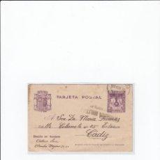 Postales: TARJETA POSTAL GUERRA CIVIL ESPAÑOLA. CENSURA MILITAR VALLADOLID. CIRCULADA EN 1938. Lote 216980445