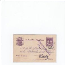 Postales: TARJETA POSTAL GUERRA CIVIL ESPAÑOLA. CENSURA MILITAR CASTELLÓN. CIRCULADA EN 1938. Lote 216981132