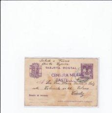 Postales: TARJETA POSTAL GUERRA CIVIL ESPAÑOLA. CENSURA MILITAR CASTELLÓN. CIRCULADA EN 1938. Lote 216981230