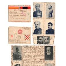 Postales: GUERRA CIVIL1937. DESPLEGABLE. TEXTO DE GUERRA. BATALLA LA GRANJA SEGOVIA. ENVIADA CORUÑA- LA HABANA. Lote 217134312