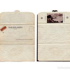 Postales: SOBRE CARTA - BILLETE POSTAL ILUSTRADO . VIVA FRANCO. Lote 217368117
