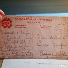 Postales: SOCORS ROIG INTERNACIONAL DE CATALUNYA. TARJETA. Lote 217727327