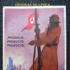 Postales: (JX-200997)TARJETA POSTAL GUERRA CIVIL - COMISARIADO DE GUERRA - INSPECCIÓN DEL CENTRO PRODUCID. Lote 219043678