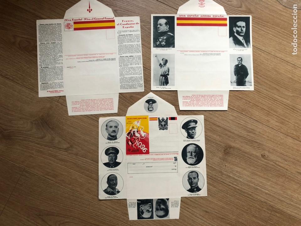 3 CARTA - SOBRE ILUSTRADOS (Postales - Postales Temáticas - Guerra Civil Española)