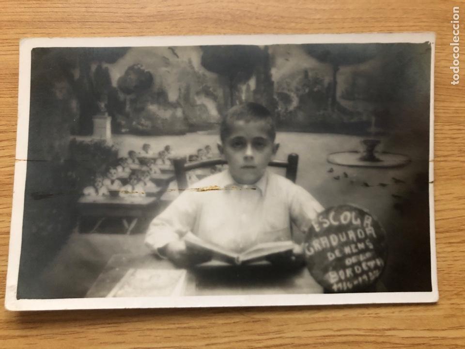 POSTAL FOTOGRÁFICA. ESCOLA GRADUADA DE NENS DE LA BORDETA 1936-1937 (Postales - Postales Temáticas - Guerra Civil Española)