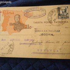 Postales: POSTAL PATRIÓTICA FRANCO. DAVID VÁZQUEZ SÁNCHEZ. UNA PATRIA. UN CAUDILLO. 1937. NO CATALOGADA.. Lote 220757555
