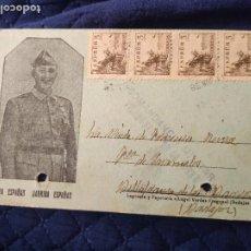 Postales: POSTAL PATRIÓTICA FRANCO. COMANDANCIA MILITAR VILLAGARCÍA DE LA TORRE. BADAJOZ NO CATALOGADA.. Lote 220758182