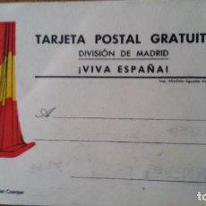 Postales: TARJETA POSTAL ¡VIVA ESPAÑA!, DIVISIÓN DE MADRID. UNA PATRIA, UN ESTADO, UN CAUDILLO -. Lote 220873856