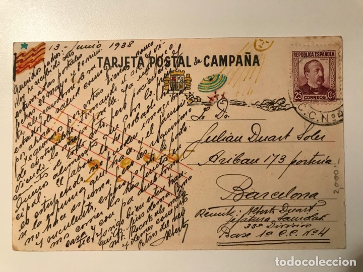 Postales: Postal Guerra Civil circulada Producid! Ejercito del Centro Estado Mayor Comisariado de Guerra. - Foto 2 - 221512895