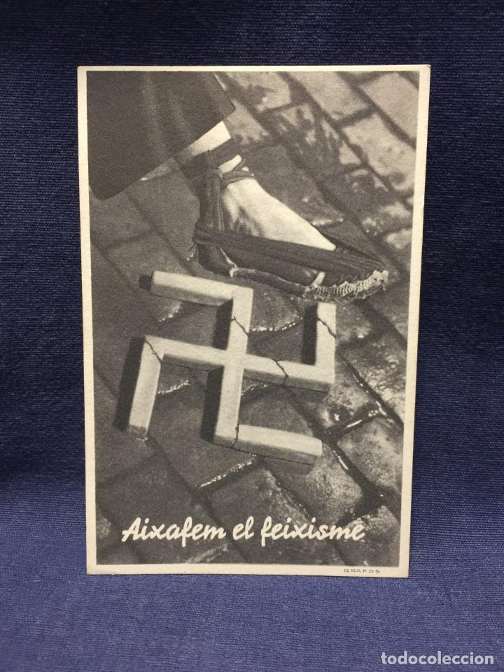FOTOGRAFIA POSTAL AIXAFEM EL FEIXISME ET GRAFOS GUERRA CIVIL (Postales - Postales Temáticas - Guerra Civil Española)