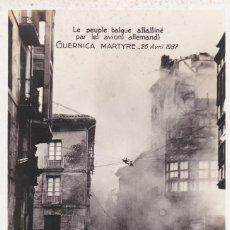 Postales: GUERRA CIVIL POSTAL FOTOGRAFICA GUERNICA MARTIR 1937. Lote 222674471