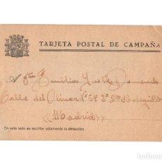 Postales: REPÚBLICA.- TARJETA POSTAL DE CAMPAÑA. TARACENA. 1937.. Lote 224086951