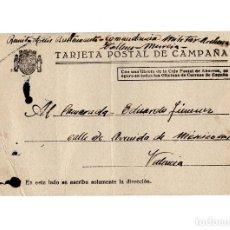 Postales: REPÚBLICA.- TARJETA POSTAL DE CAMPAÑA.COMANDANCIA MILITAR ARCHENA.(MURCIA). TALLERES. 1937.. Lote 224087822