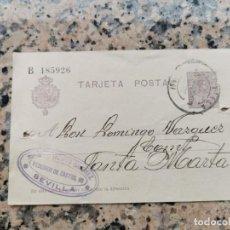 Postales: TARJETA AVISO SELLADA 13 DE NOVIEMBRE DE 1920 SEVILLA. Lote 229452125