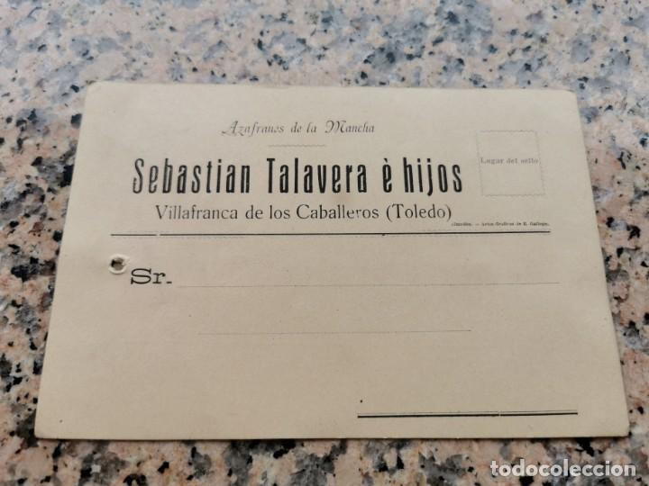 TARJETA DE PRECIOS DE SEBASTIAN TALAVERA E HIJOS VILLAFRANCA DE LOS CABALLEROS TOLEDO (Postales - Postales Temáticas - Guerra Civil Española)
