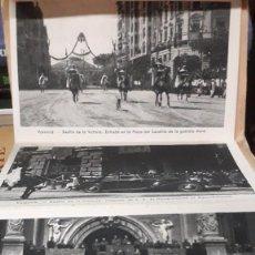 Postales: SERIE DESPLEGABLE DE POSTALES, DESFILE DE LA VICTORIA. VALENCIA 1939. Lote 234751870