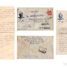 Postales: CARTA DESDE EL FRENTE. RGT. LA VICTORIA Nº28. 169 BON. PLANA MAYOR. 1938.. Lote 235284435