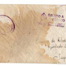 Postales: CARTA DESDE EL FRENTE. ALFEREZ DE LA 35 BATERIA A.A. 75 DIVISIÓN. ALGORA. GUAGALAJARA.. Lote 235285055