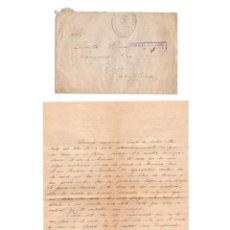 Postales: BANDERA DE LA F.E. Y DE LAS JONS. BANDERA DE MARRUECOS. 1º CENTURIA.CARTA FIN DE GUERRA CIVIL.. Lote 235805090